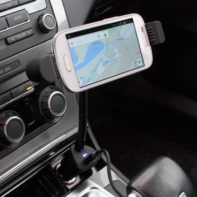 Auto Aktivhalter Micro-USB mit Ladefunktion 2 1A