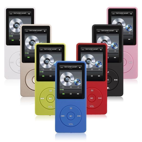 mp3 player 16gb set mit 64gb micro sd karte in dunkelblau. Black Bedroom Furniture Sets. Home Design Ideas