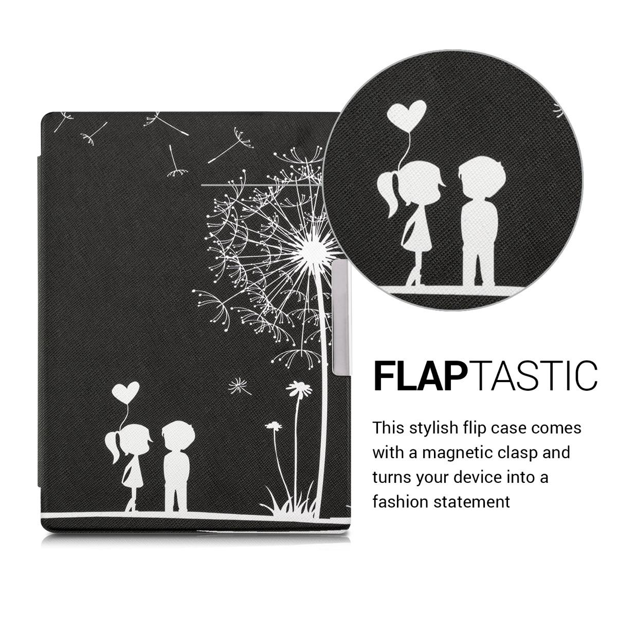 Flip Kunstlederhülle für Kobo Aura H2O Edition 1 Pusteblume