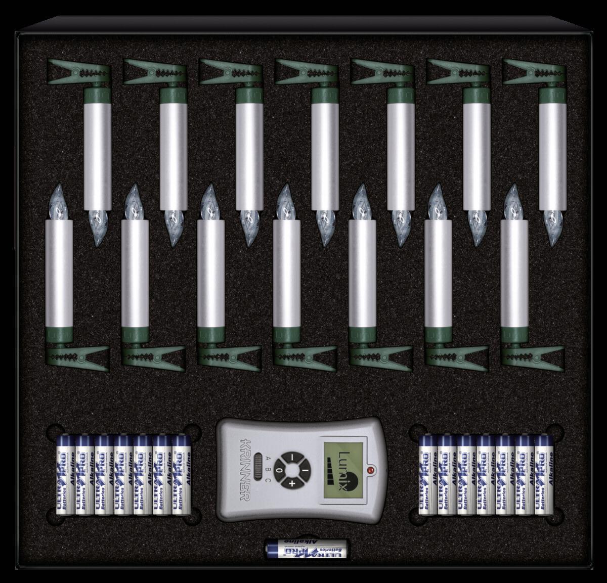 Lumix Weihnachtsbeleuchtung.Krinner Lumix Deluxe Mini 14er Basis Set Silber Kommunikation